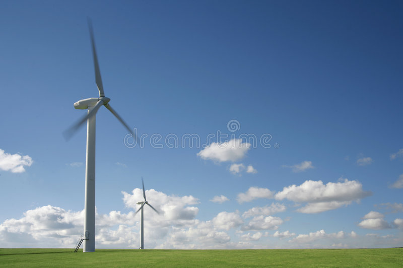 Turbines de vent photographie stock