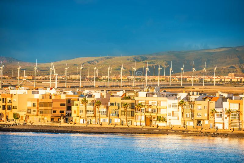 Turbines de vent aux Îles Canaries photos stock