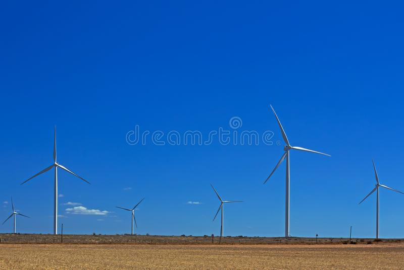 Turbines de vent chez Hopefield photos stock