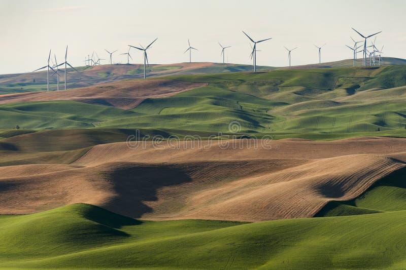 Turbines de vent de Palouse image stock