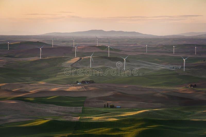 Turbines de vent de Palouse photographie stock
