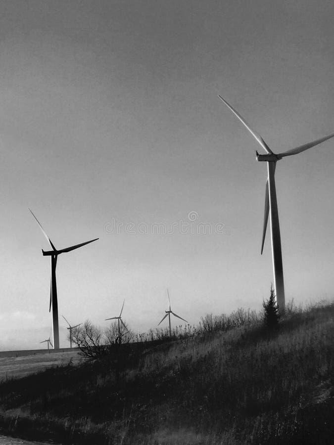 Turbines de vent du Nébraska image libre de droits