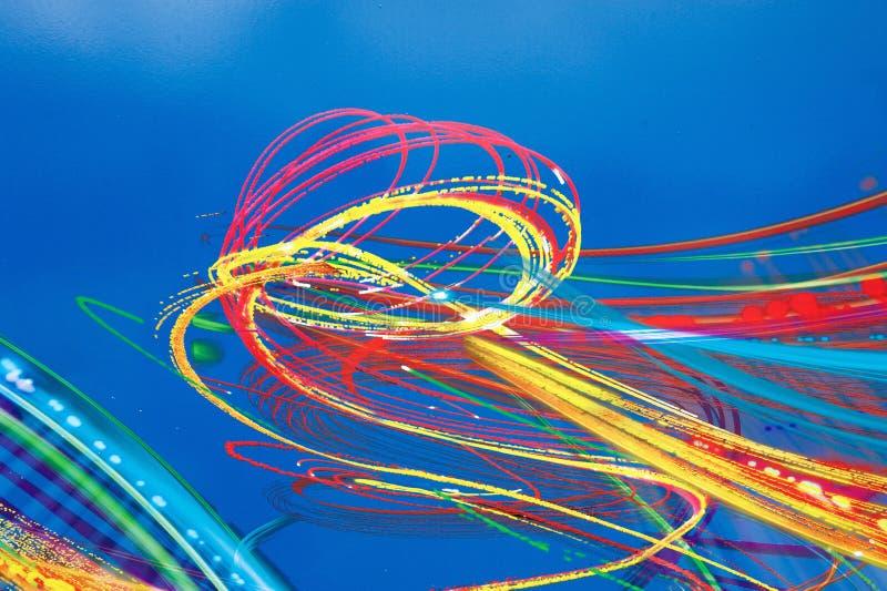 Turbinii artistici di pittura multicolore fotografie stock