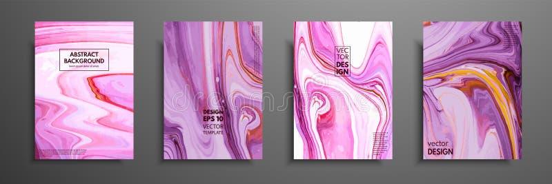 Turbinii di marmo o delle ondulazioni dell'agata Struttura di marmo liquida Arte fluida Applicabile per le coperture di progettaz illustrazione di stock