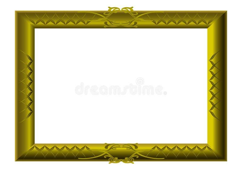 Turbinii dorati della cornice illustrazione di stock