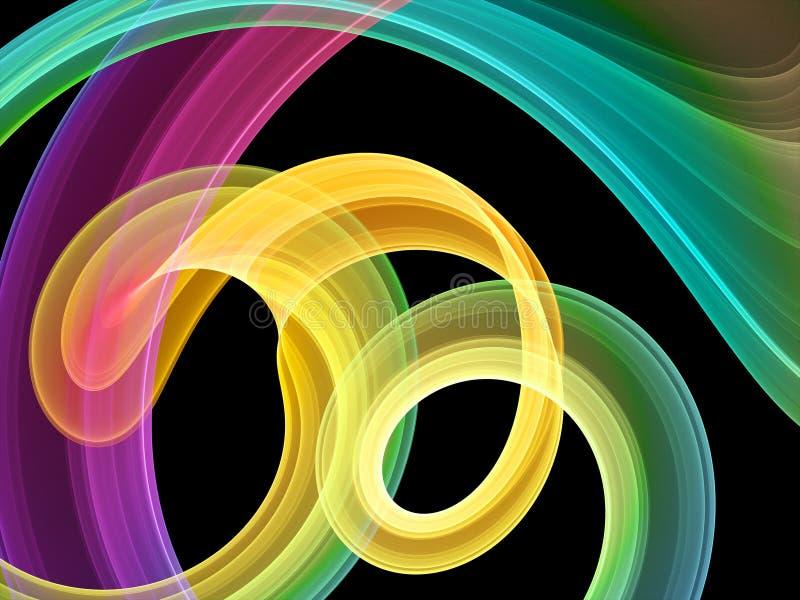 Turbinii multicolori luminosi royalty illustrazione gratis