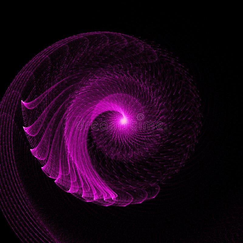 Turbinio d'ardore porpora astratto di flusso di energia illustrazione vettoriale