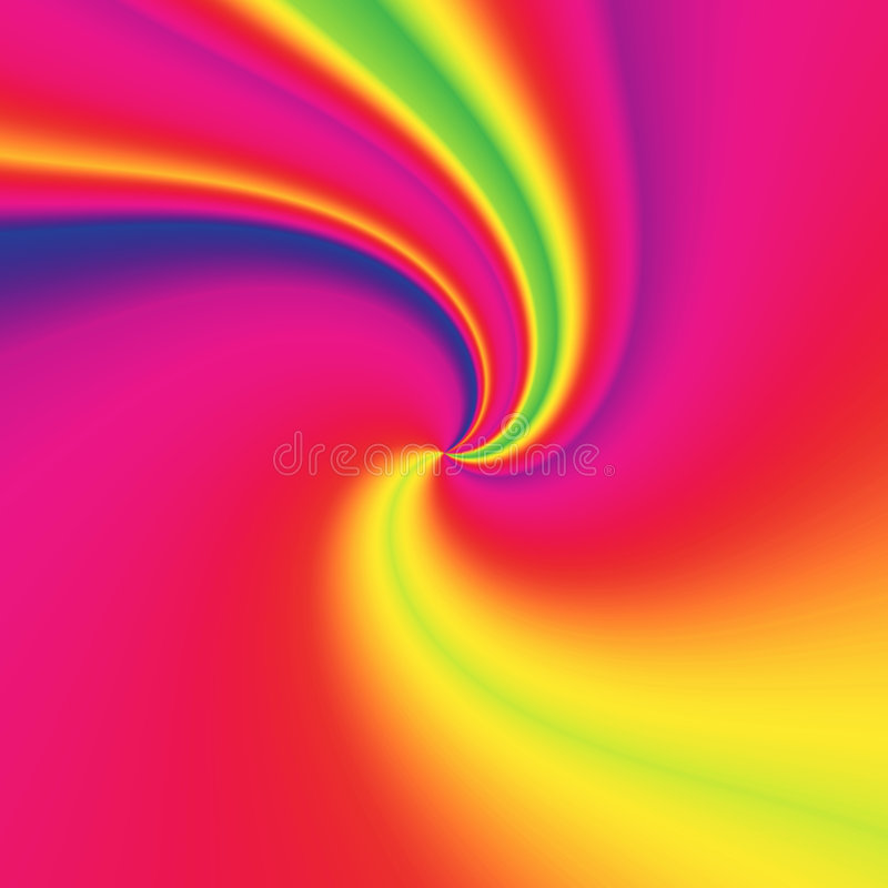 Turbinio del Rainbow illustrazione di stock