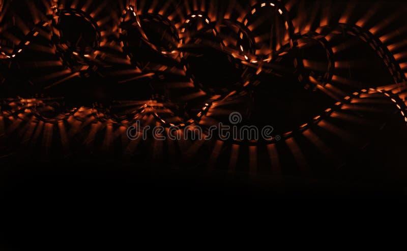 Turbinio lampeggiante contro fondo nero fotografia stock libera da diritti