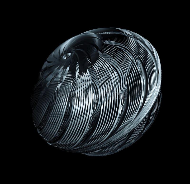 Turbinowi ostrza Odizolowywający Na Czarnym tle ilustracja wektor