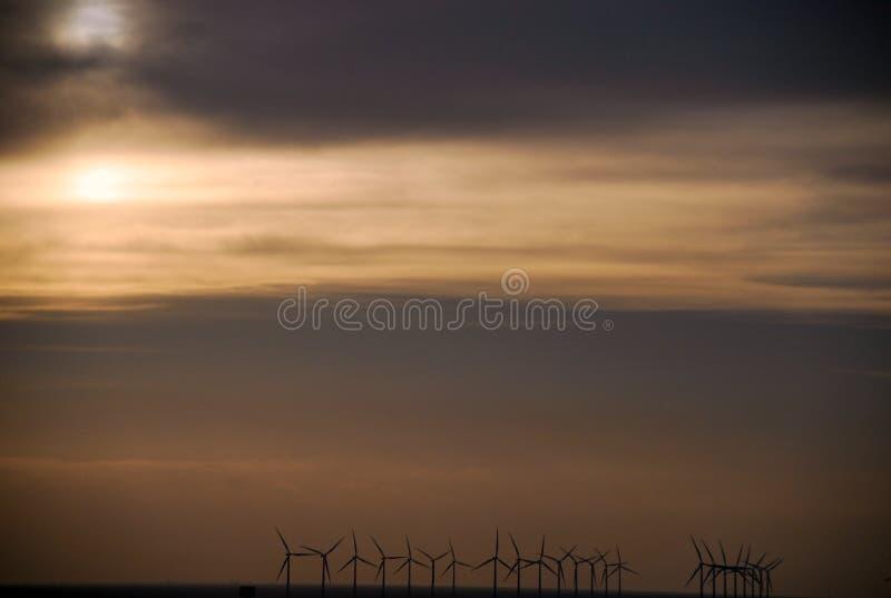 Turbins энергии ветра стоковые фотографии rf