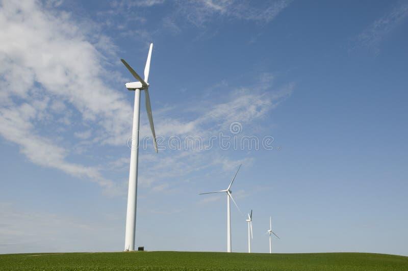 turbiny pola wiatr obraz stock
