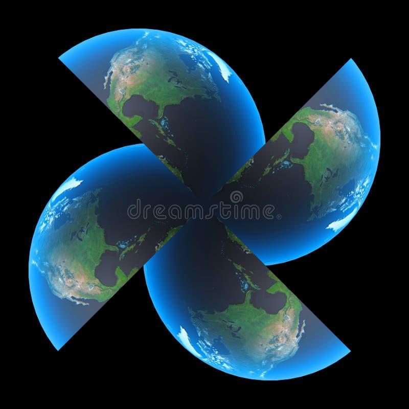 turbiny ziemi royalty ilustracja