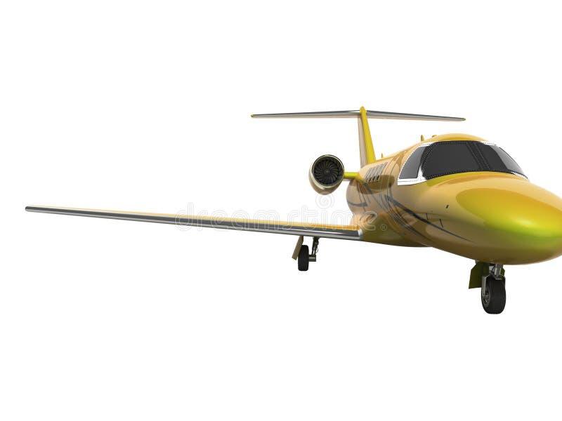 Turbo avion privé 3D de concept ne rendre sur le fond blanc aucune ombre illustration libre de droits