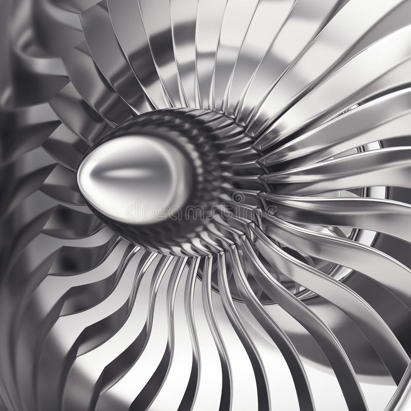 Free Turbo-jet Engine Of The Plane, Close Up. 3d Rendering Stock Photo - 78559770