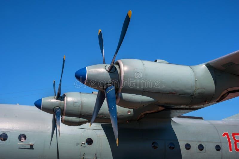 Turbo-Prop mit Propeller Nahaufnahme stockfoto