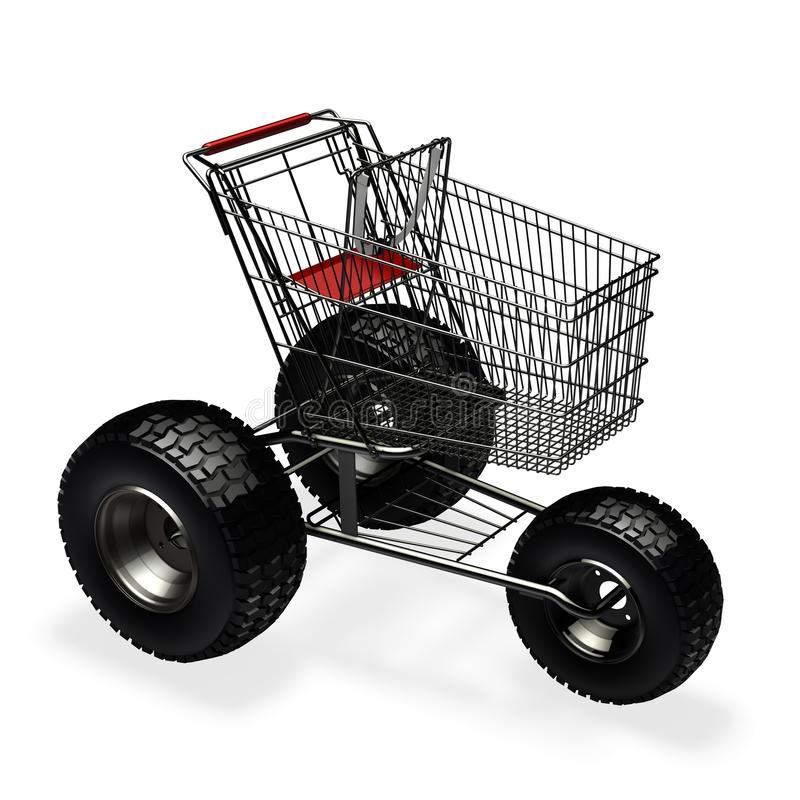 Turbo snelheidsboodschappenwagentje stock illustratie