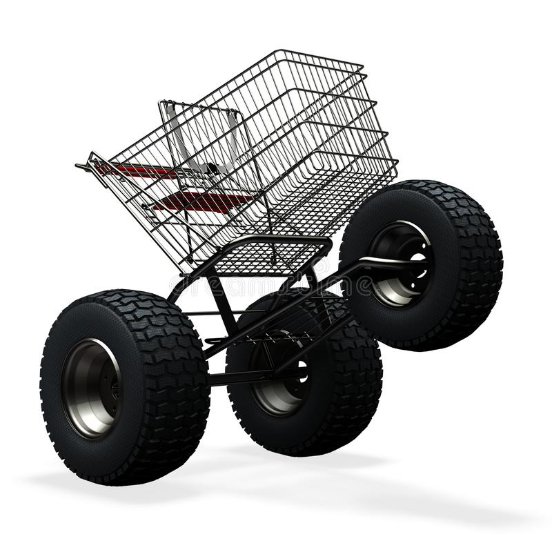 Download Turbo speed shopping cart stock illustration. Image of economics - 15258085