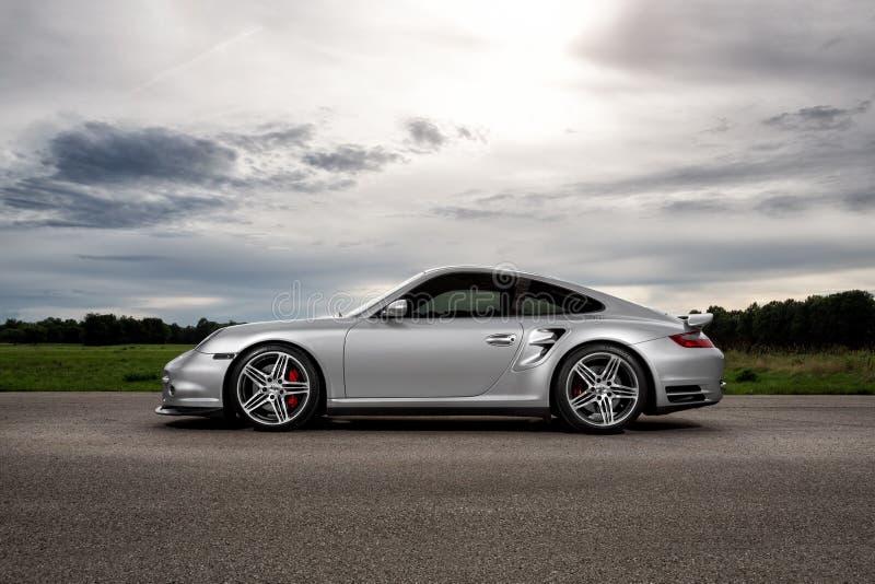 Turbocompressor de Porsche 997 fotos de stock royalty free