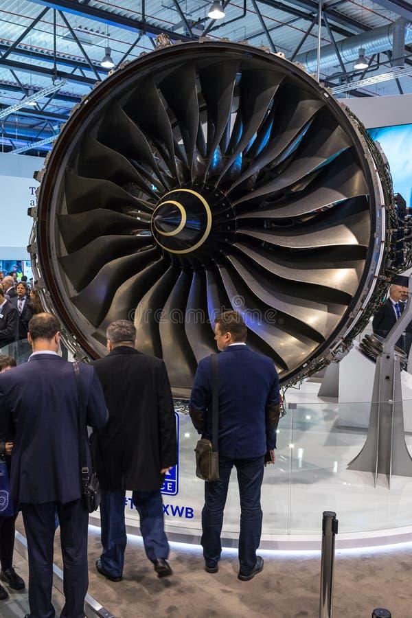 Turbofan dżetowi silniki Rolls-Royce Trent XWB obraz royalty free