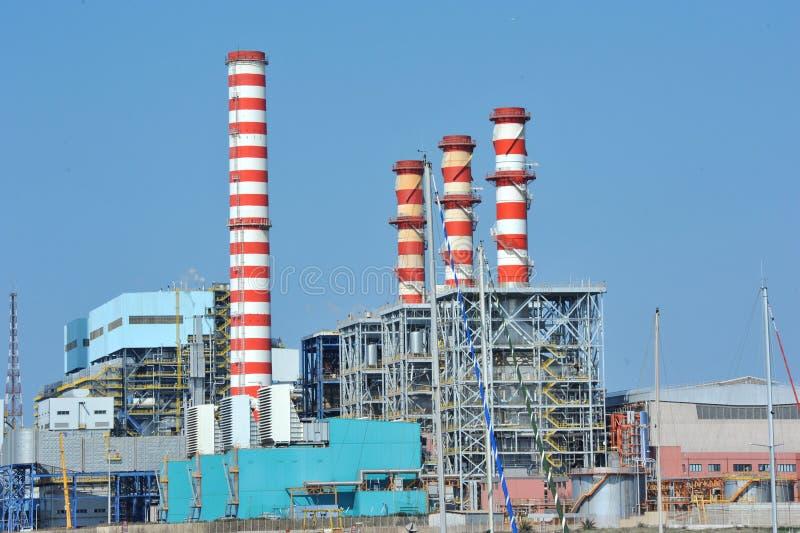 Turbogas能源厂 免版税库存照片