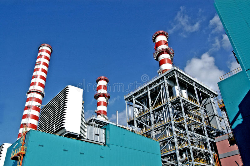 Turbogas power plant royalty free stock image