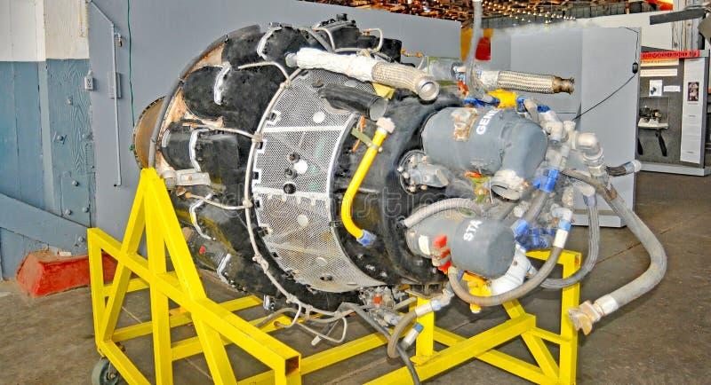 Turboladdare-stötta Jet Engine fotografering för bildbyråer