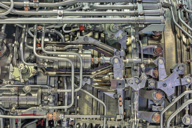 Turboladdare-stråle motor arkivbilder