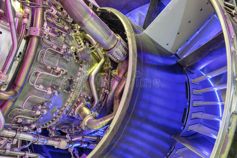 Turboladdare-stråle motor royaltyfria bilder