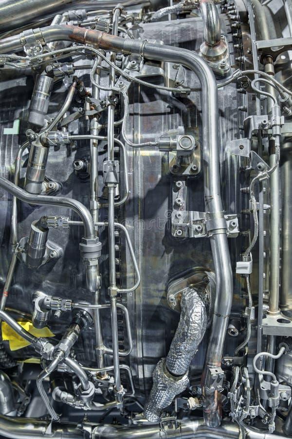 Turboladdare-stråle motor fotografering för bildbyråer