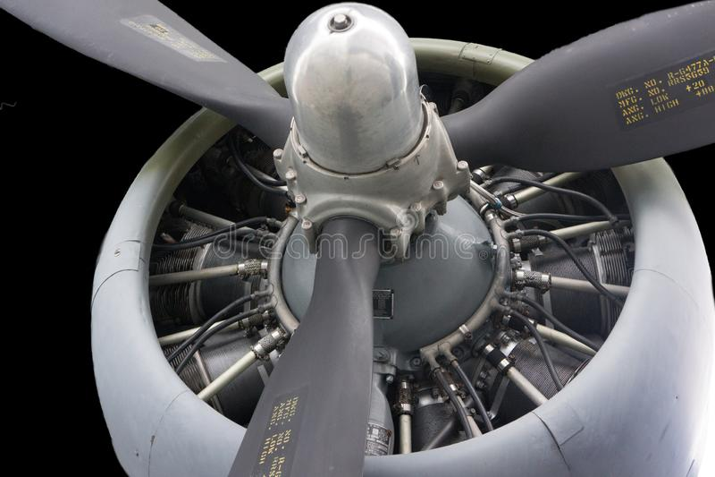 Turboladdareblad Jet Engine arkivbilder