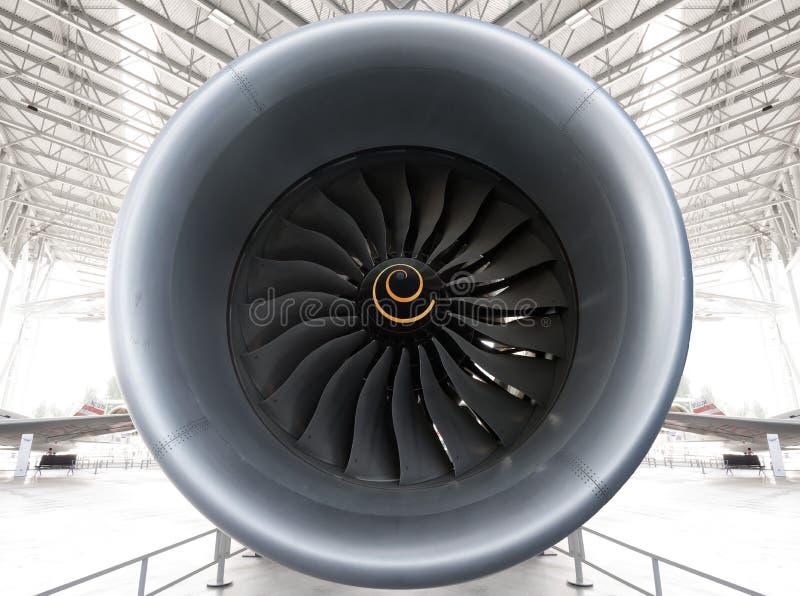Turboladdarefan Jet Engine royaltyfri fotografi