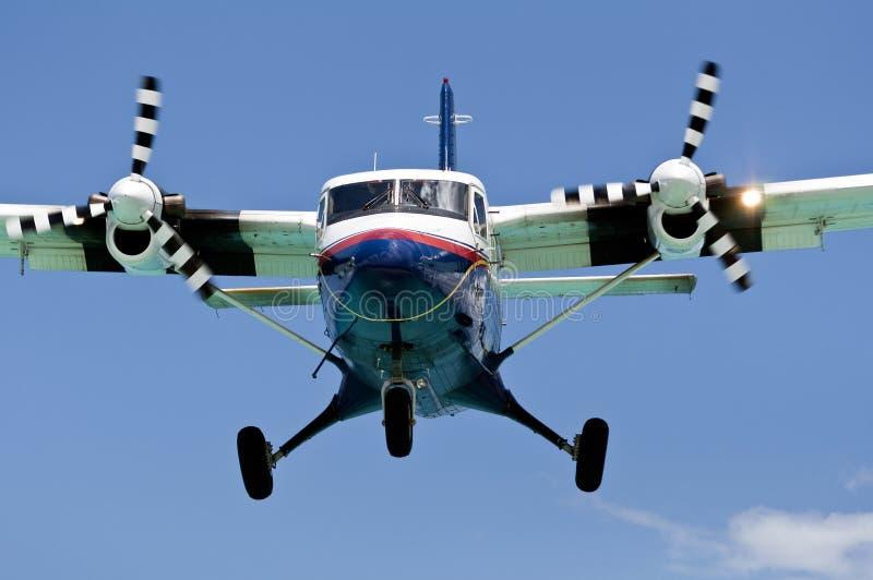 Turboprop-Triebwerk Passagierflugzeug. stockbilder