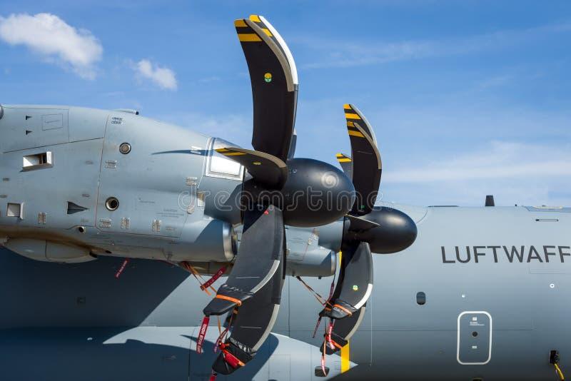 Turbopropulseur Europrop TP400-D6 des avions Airbus A400M Atlas de transport de militaires images libres de droits