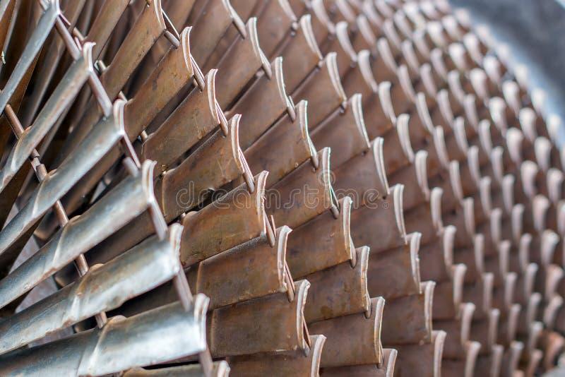 Turbopropulsore e turbina a gas come rotore di turbina con le lame e le eliche immagine stock libera da diritti