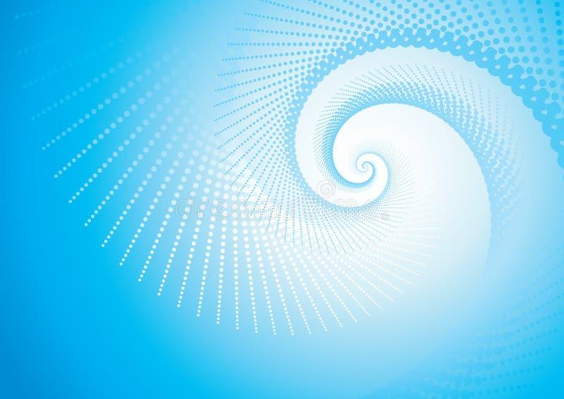Turbulência azul ilustração stock
