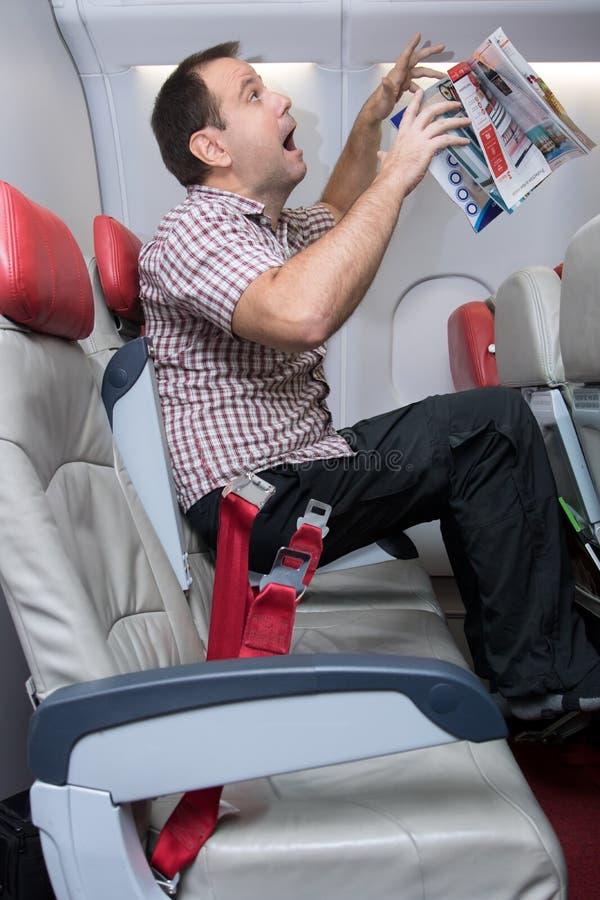 Turbulence à l'avion de vol photo libre de droits