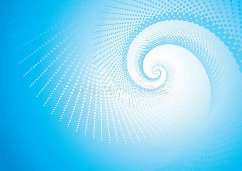 Turbulencia azul stock de ilustración