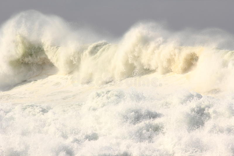 Turbulent ocean wave. A big wave pounding at the coast on a stormy day. Pacific ocean, Australia stock photography