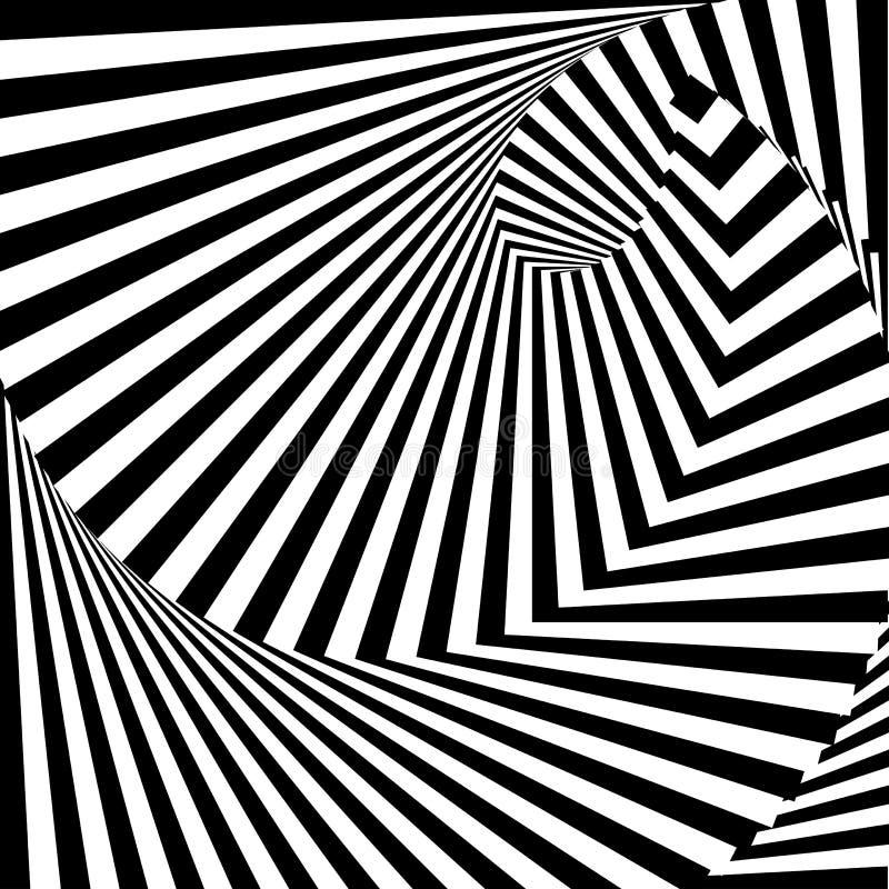 Turbulenz-Illusionshintergrund des Designs einfarbiger stock abbildung