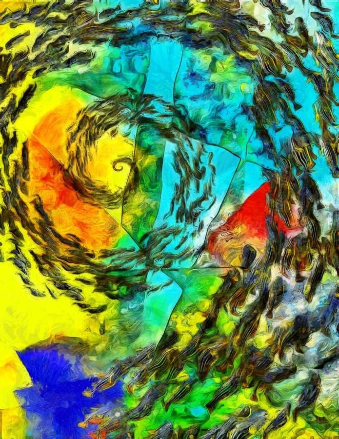 Turbulenz von Fischen lizenzfreie abbildung