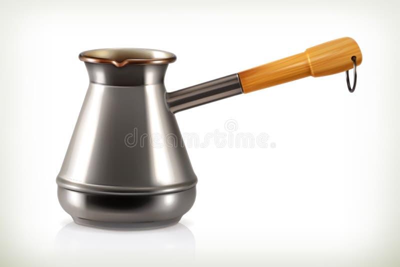Turc pour le café de brassage illustration stock