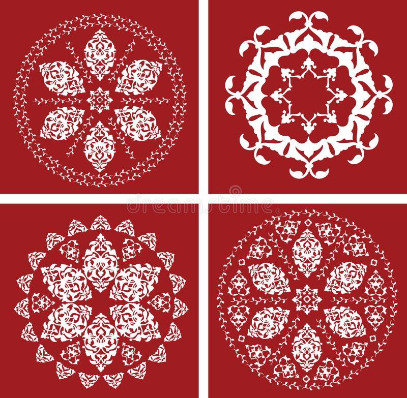 turc traditionnel de tabouret d'illustration d'antiquité illustration de vecteur