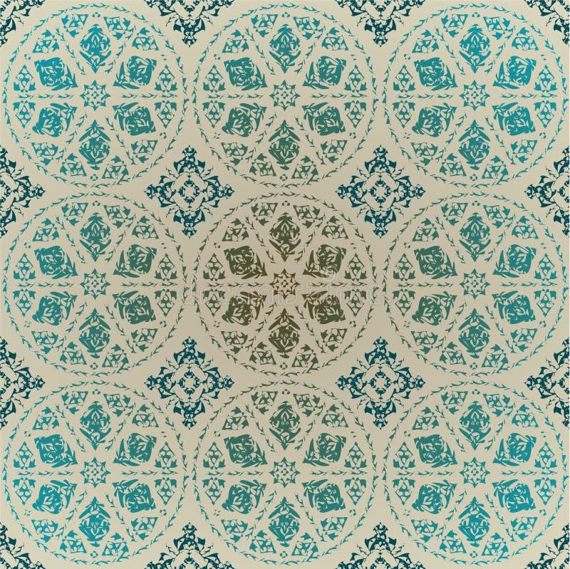 turc traditionnel sans joint de tabouret de conception illustration de vecteur