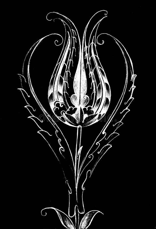 Turc Tulip Drawing illustration libre de droits