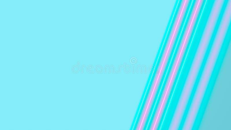 Turchese e luci al neon rosa con i lotti dello spazio della copia per l'esposizione del prodotto o del testo immagini stock libere da diritti