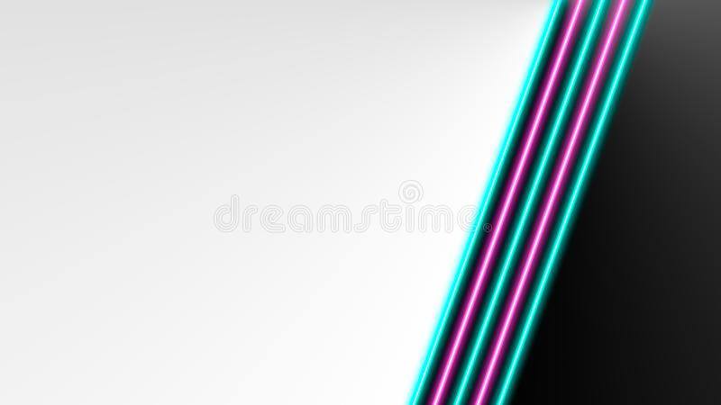 Turchese e luci al neon rosa con i lotti dello spazio della copia per l'esposizione del prodotto o del testo immagine stock