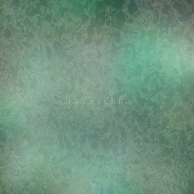 Turchese e stampa verde del waterleaf su documento illustrazione vettoriale