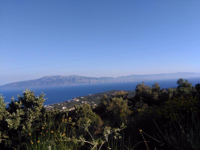 Turcja, Canakkale, Ayvacik, midilli wyspy morza egejskiego teren Lato 2019 zdjęcia royalty free