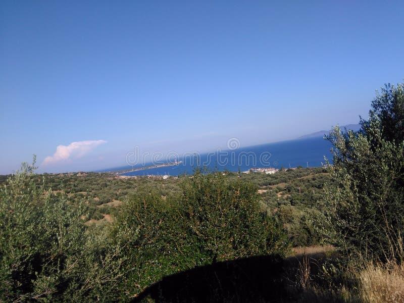 Turcja, Canakkale, Ayvacik, midilli wyspy morza egejskiego teren Lato 2019 zdjęcia stock